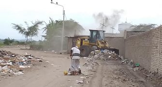 limpieza de basura a los alrededores del sector Santa Rosa9