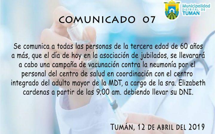 Comunicado 7
