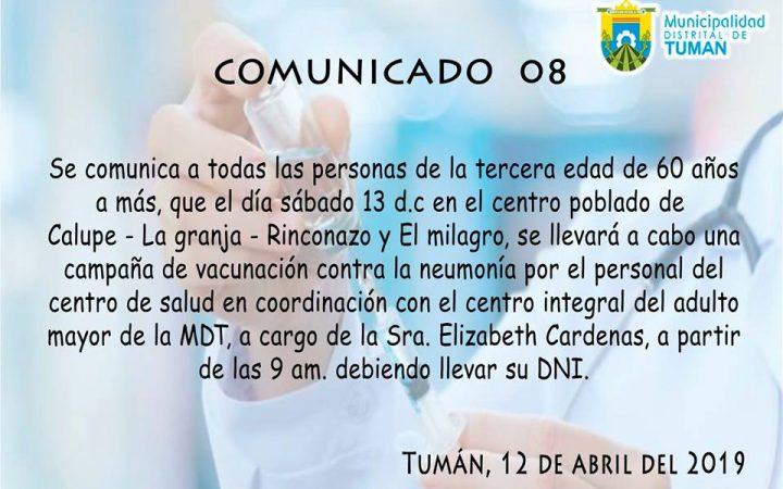 Comunicado 8